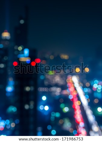 Abstract  bokeh   cityscape of Bangkok night background / illustration - stock photo