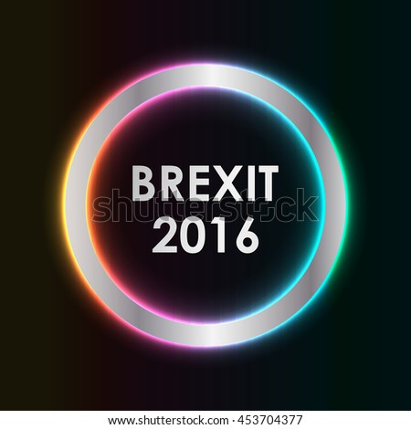 abstract brexit 2016 background - stock photo