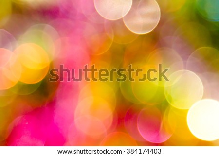 Abstract bright circular bokeh background blur - stock photo