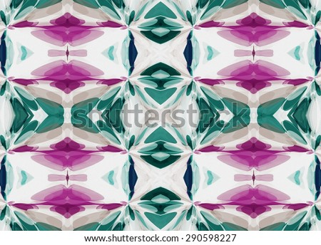 Abstract bright colorful difficult shapes ornament geometric pattern background - stock photo