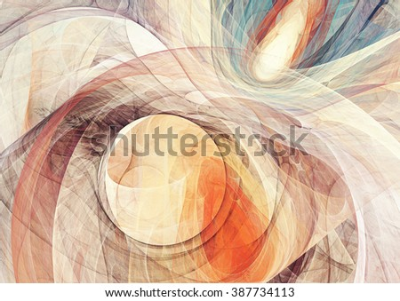 Abstract bright motion composition. Modern futuristic dynamic background. Yellow and blue color artistic pattern of paints. Fractal artwork for creative graphic design - stock photo