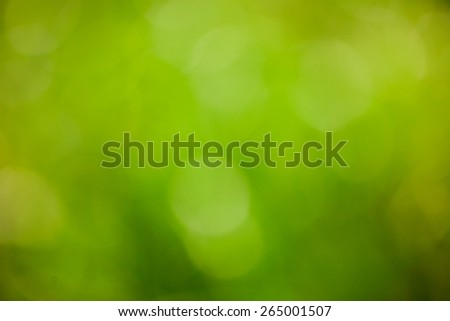 Abstract bright nature green blurred background. Bokeh - stock photo