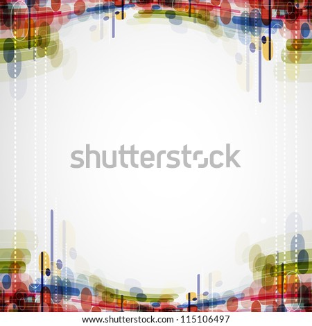 Abstract bright technology dynamic fade background - stock photo
