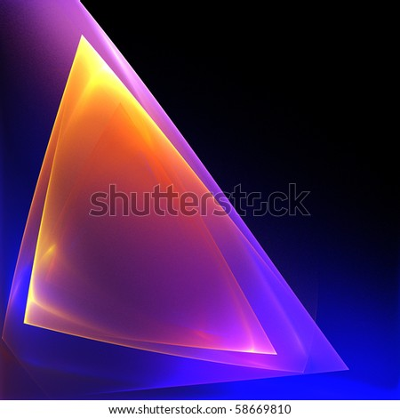 Abstract bright translucent geometric background - stock photo