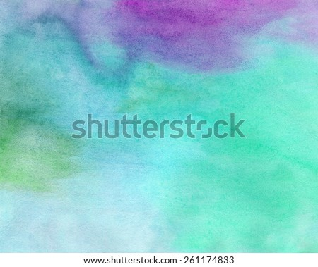 Abstract bright watercolor painted background or texture - stock photo