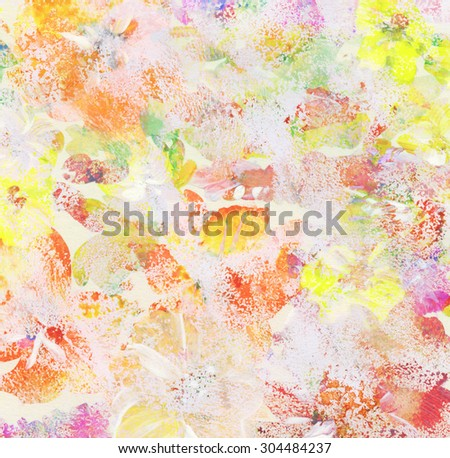 Abstract bright watercolor painting. Floral background   - stock photo