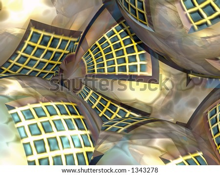 Abstract Building Globes - stock photo