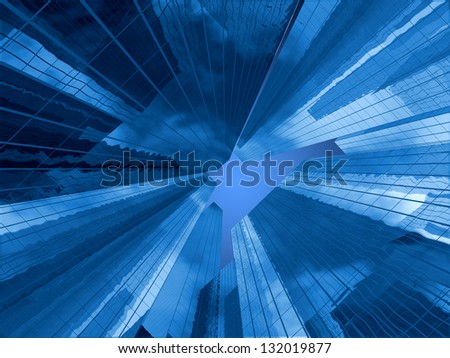 Abstract buildings - stock photo