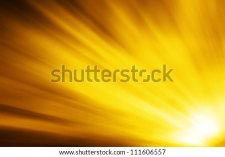 abstract burning sun - stock photo