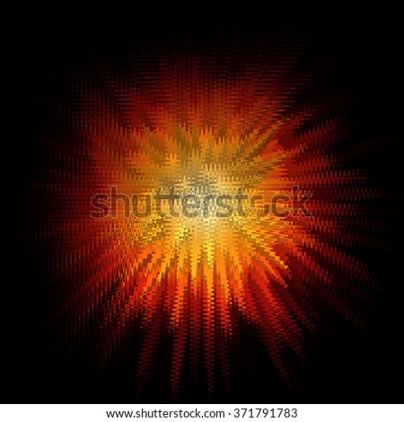 Abstract burst background with orange shapes - stock photo