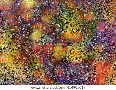 Abstract burst holiday manycolored confetti backgrounds - stock photo