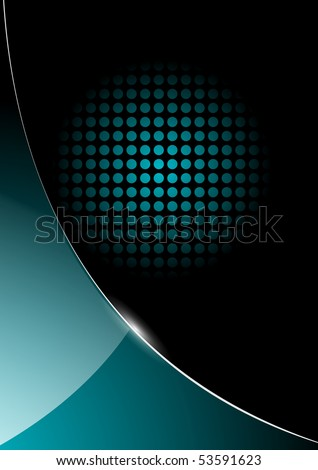 abstract business background blue and black glossy. Jpg version. - stock photo