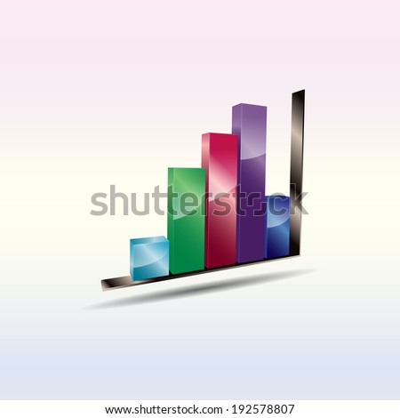 Abstract business background with bar chart. (Raster) - stock photo