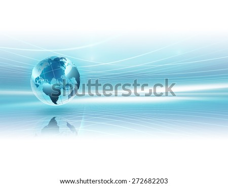 abstract business background with world - stock photo