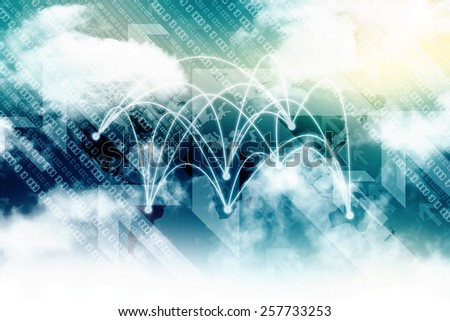 Abstract Business Technology Background - stock photo