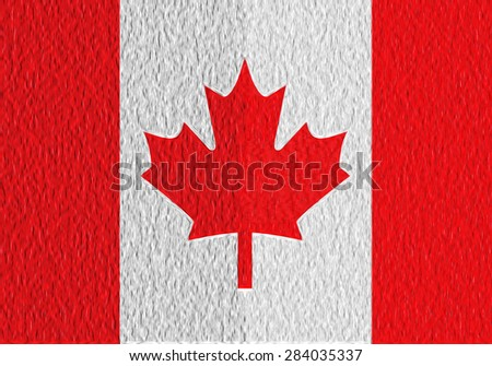 Abstract Canada flag on texture - stock photo