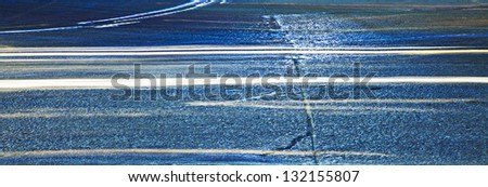 Abstract car lights on the road - stock photo