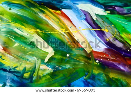 Abstract chaos painting design wallpaper - stock photo