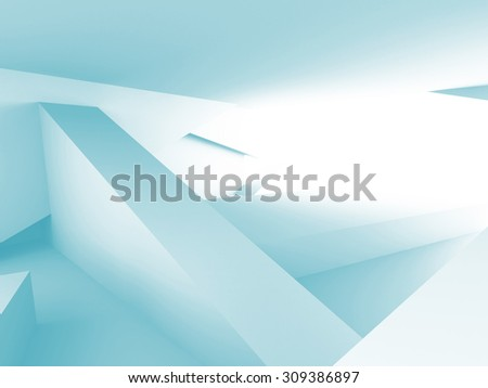 Abstract Chaotic Architecture Design Background. 3d Render Illustration - stock photo