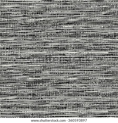 Abstract charcoal noisy striped space dye. Seamless pattern. - stock photo