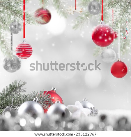 Abstract Christmas background, close-up. - stock photo