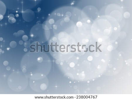 Abstract Christmas background of holiday lights - stock photo