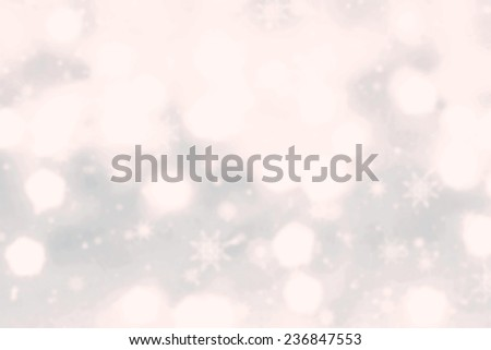 Abstract Christmas background  with  glowing magic  festive lights and copy space - stock photo