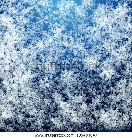 Abstract Christmas background with soft fluffy snow made ??of realistic falling snowflakes. - stock photo