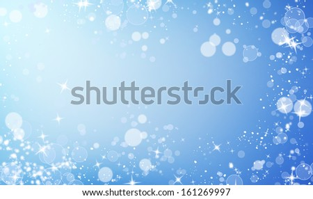 abstract Christmas background with stars and bokeh  - stock photo