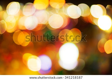 Abstract christmas blur light background. - stock photo