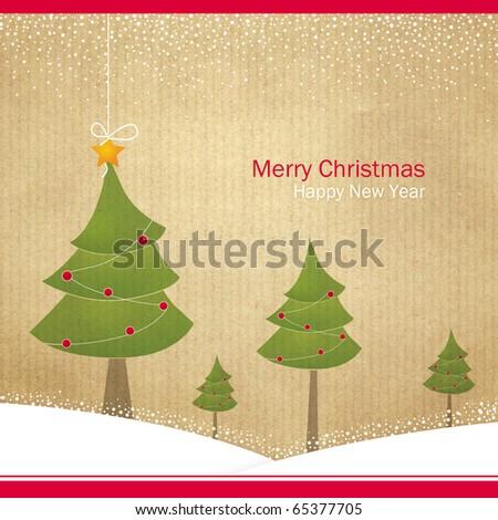 Abstract Christmas card - stock photo
