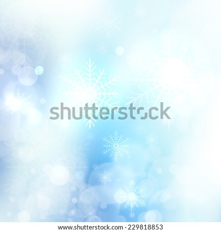 Abstract Christmas card with snowflakes - stock photo