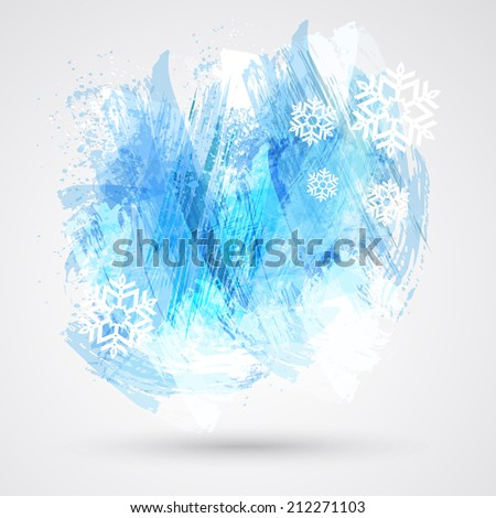 Abstract Christmas figured brush strokes brush and ink. - stock photo