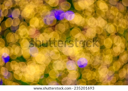 Abstract christmas lights bokeh background - stock photo