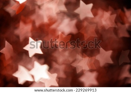 Abstract christmas stars on background - stock photo