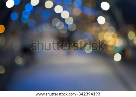 Abstract christmas street with defocusing and blurry background - stock photo