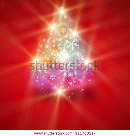 Abstract Christmas tree illustration - stock photo