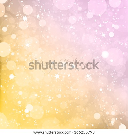 Abstract Christmas with snow background - stock photo
