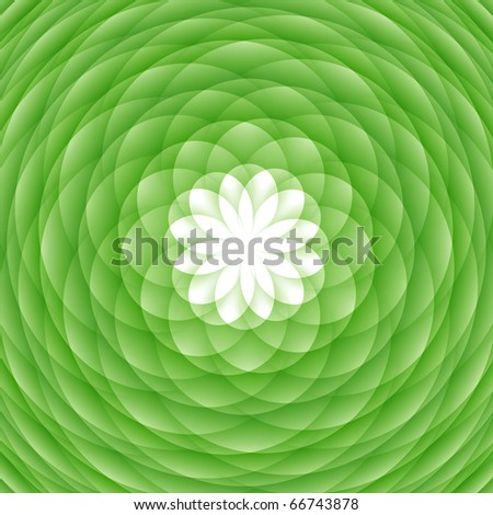 Abstract circled ornament, flower-shaped - stock photo