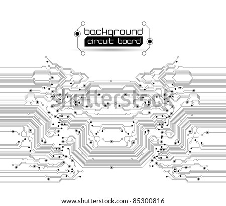 Abstract circuit board background texture - JPG version - stock photo