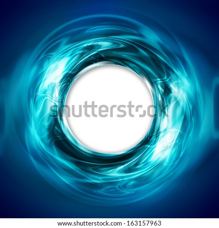 abstract circular blue background with white hole - stock photo