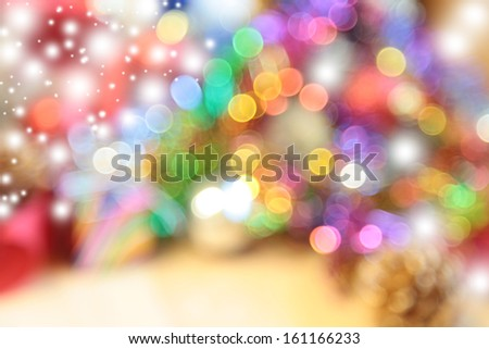 Abstract circular bokeh background of Christmas light - stock photo