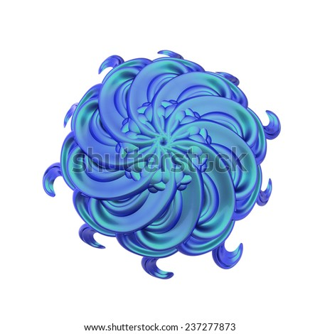 abstract circular glossy Sphere bubble - stock photo