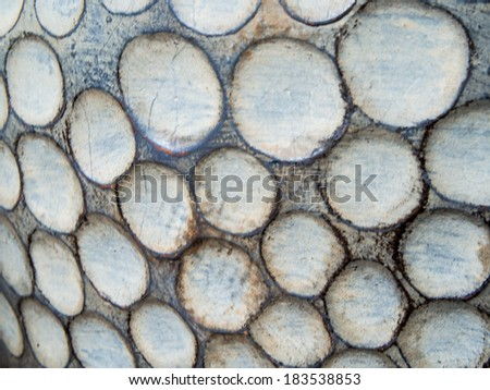 Abstract circular material pattern background  texture - stock photo
