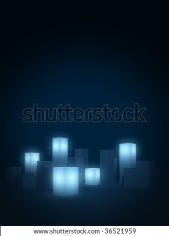 Abstract city background - stock photo