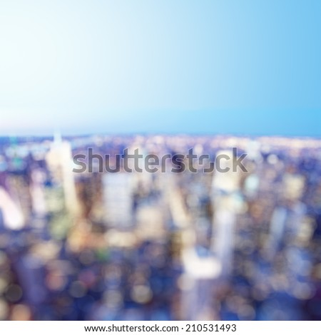 abstract city, blurred photo bokeh - stock photo