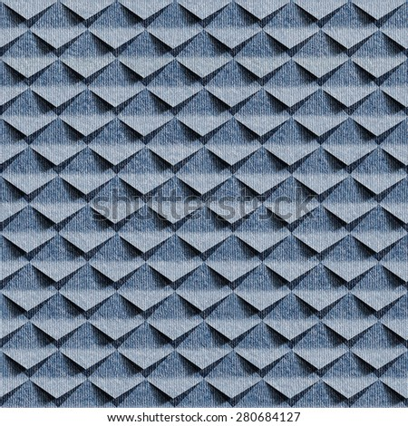Abstract clippings - seamless pattern - blue jeans cloth - stock photo