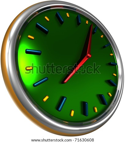 abstract clock, 3d render isolated on white - stock photo