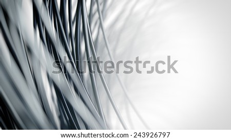 Abstract close up network cables - 3D render - stock photo