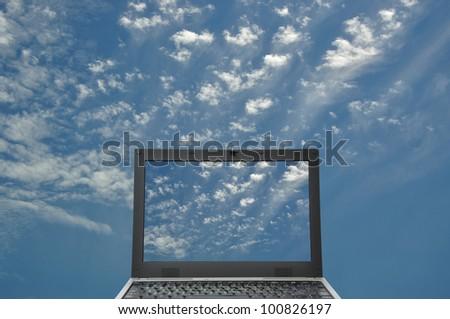 Abstract Cloud Computing - stock photo